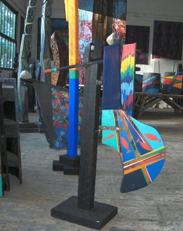 Vue partielle de l'atelier de sculpture atelier,  sculpture,  peinture,  métiers d'art,  culture,  région